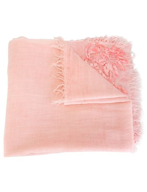Ermanno Scervino   Женское Розовый Lace Detail Scarf