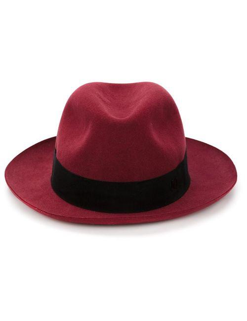 Maison Michel | Мужская Красная Фетровая Шляпа Adam