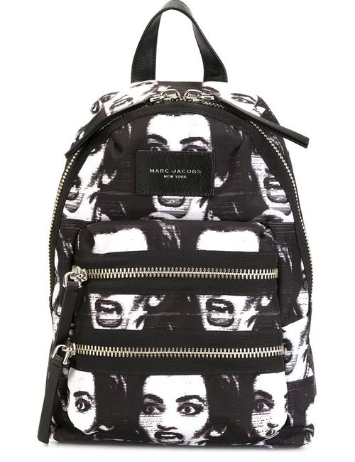 Marc Jacobs | Женское Чёрный Printed Biker Mini Backpack