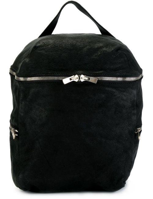 GUIDI | Женский Чёрный Рюкзак С Ручкой