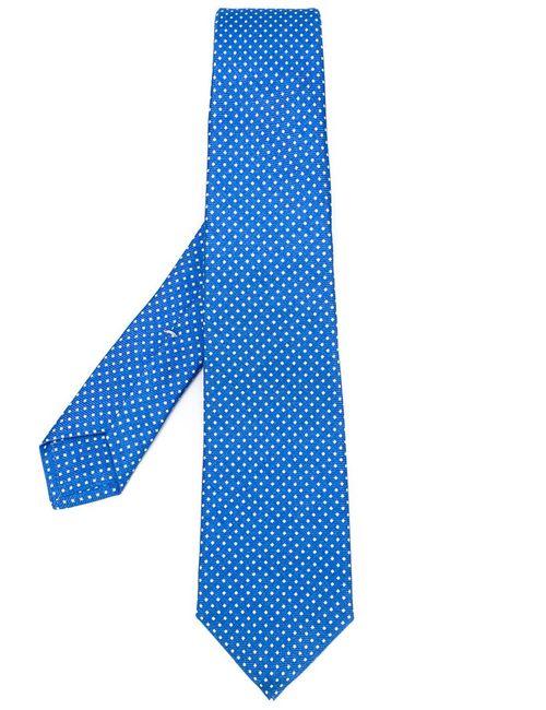 Kiton   Мужское Синий Pin Print Tie