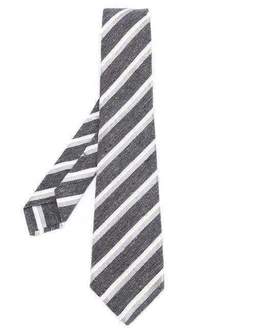 Kiton | Мужское Серый Diagonal Stripes Tie