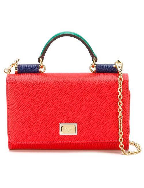 Dolce & Gabbana   Женская Красная Сумка Через Плечо Von