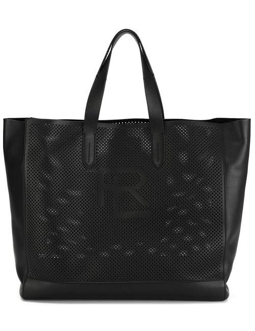 Ralph Lauren | Женская Чёрная Сумка-Тоут Perf Easy С Перфорированным Дизайном