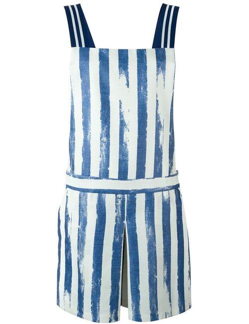 Cristiano Burani | Женское Синий Striped Print Playsuit
