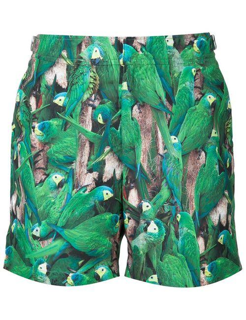 Orlebar Brown | Мужские Зелёные Шорты Для Плавания Bulldog