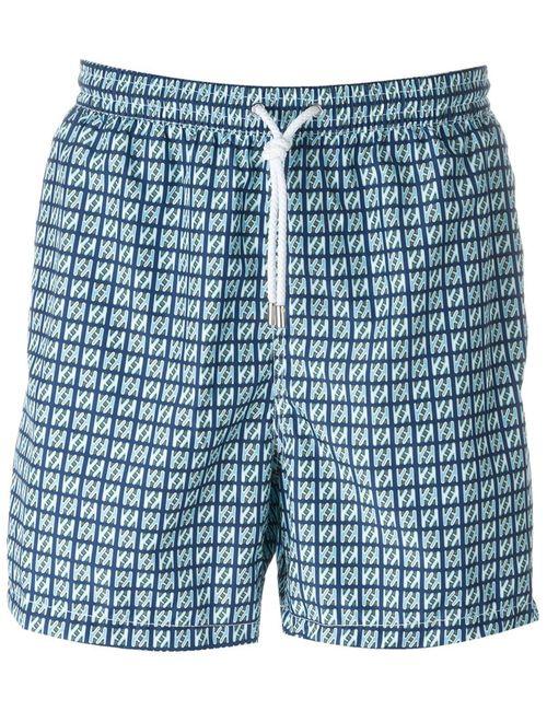 Kiton | Мужское Синий Square Print Swim Shorts