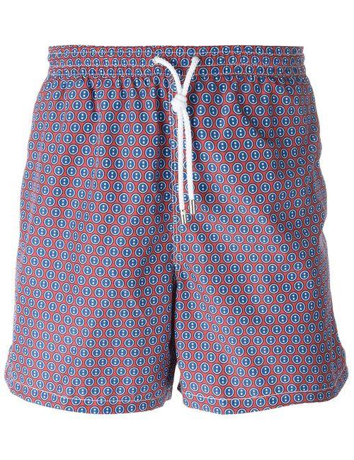 Kiton | Мужское Красный Dot Print Swim Shorts