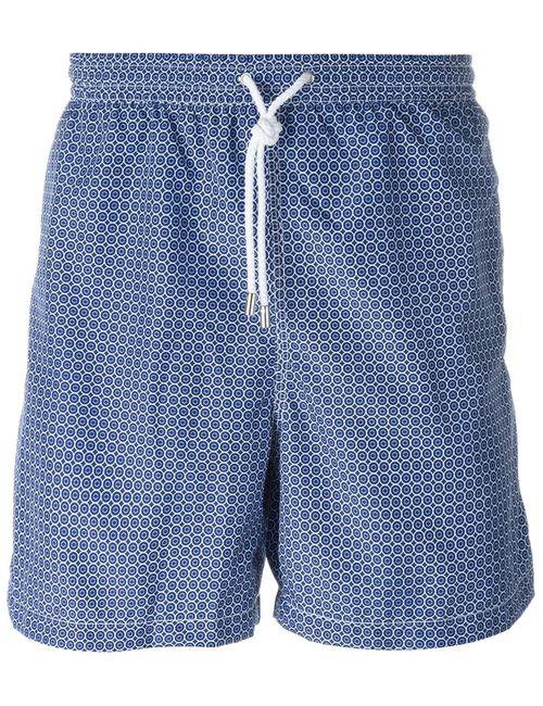 Kiton | Мужское Синий Geometric Print Swim Shorts