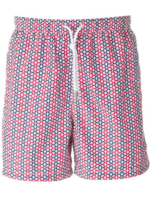 Kiton | Мужское Красный Tile Print Swim Shorts