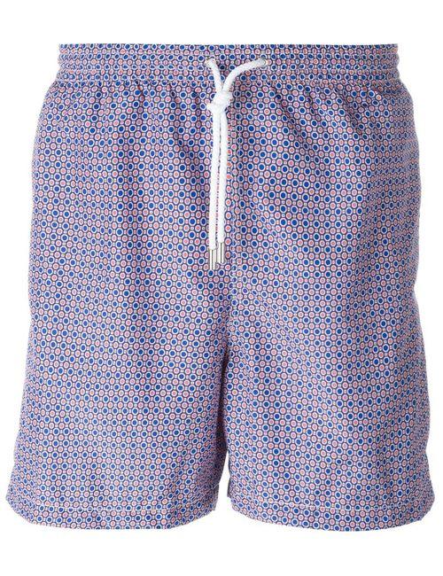 Kiton   Мужское Розовый Geometric Print Swim Shorts