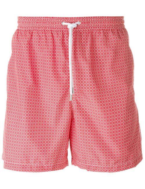 Kiton | Мужское Красный Circle Print Swim Shorts