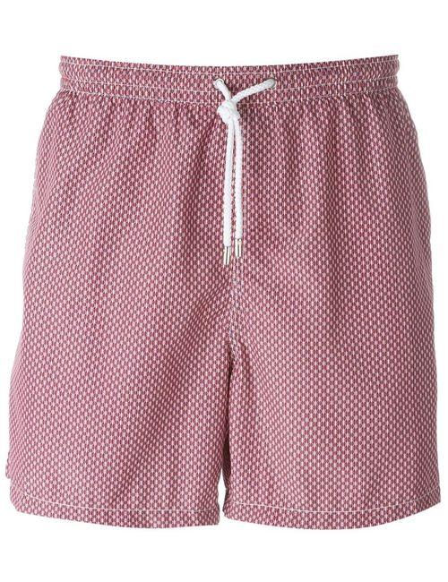Kiton | Мужское Розовый Wavy Print Swim Shorts