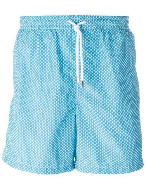 Kiton | Мужское Синий Snowflake Print Swim Shorts