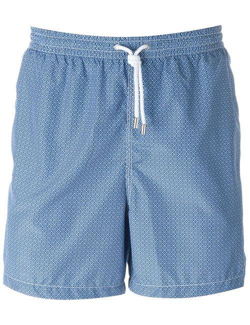 Kiton | Мужское Синий Wavy Print Swim Shorts