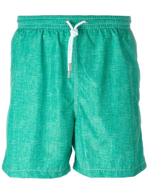 Kiton | Мужские Зелёные Плавательные Шорты С Джинсовым Эффектом