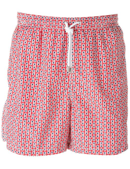 Kiton | Мужское Красный Dotted Print Swim Shorts