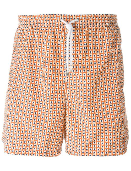 Kiton | Мужское Желтый Dotted Print Swim Shorts