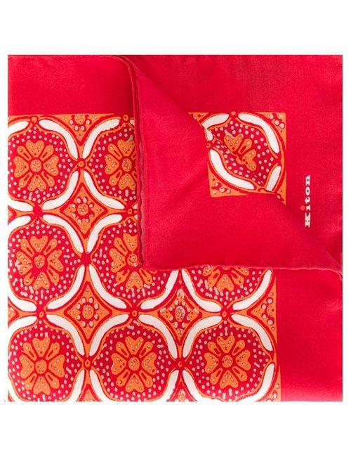 Kiton | Мужское Красный Print Pocket Square