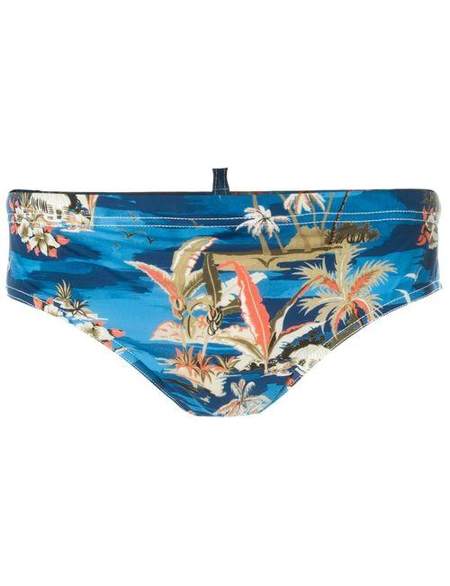 Dsquared2 Beachwear | Мужские Синие Плавки С Цветочным Принтом