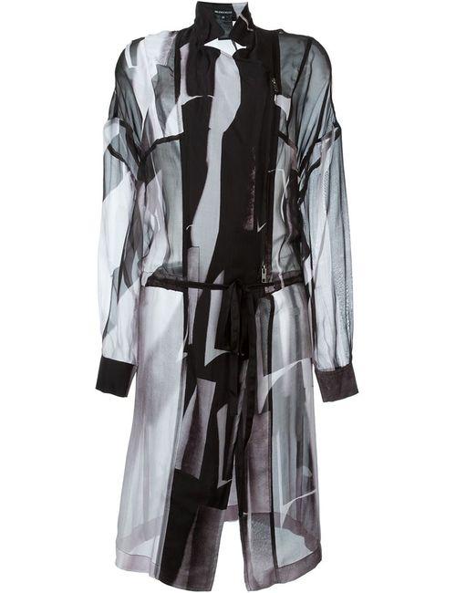 Ann Demeulemeester | Женское Розовое Прозрачное Летнее Пальто
