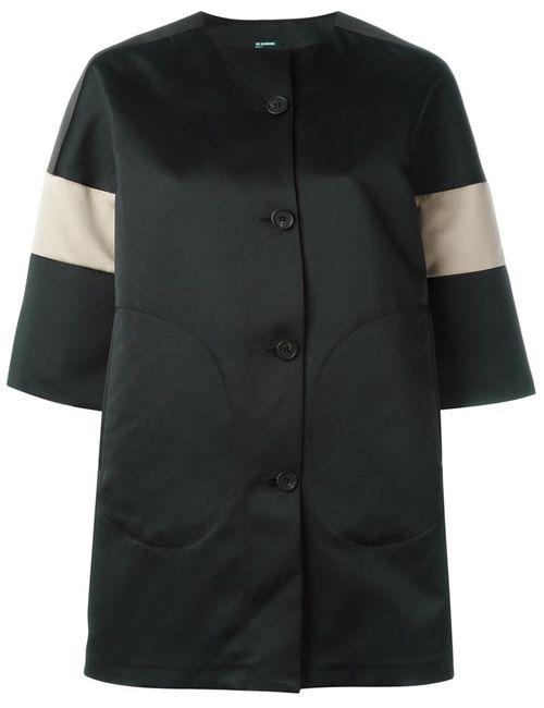 Jil Sander Navy | Женское Чёрный Striped Sleeves Coat