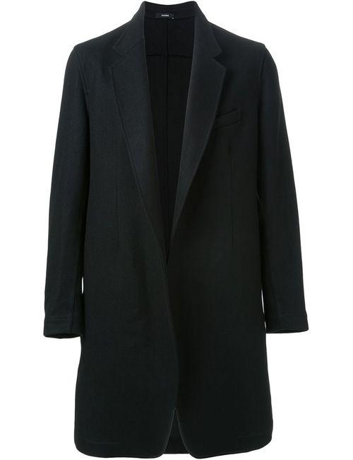 Bassike | Мужское Чёрное Классическое Пальто