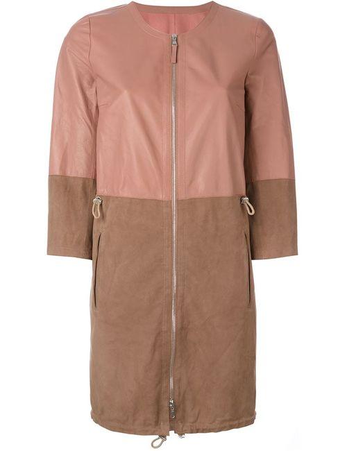 Eleventy | Женское Розовое Двухцветное Пальто