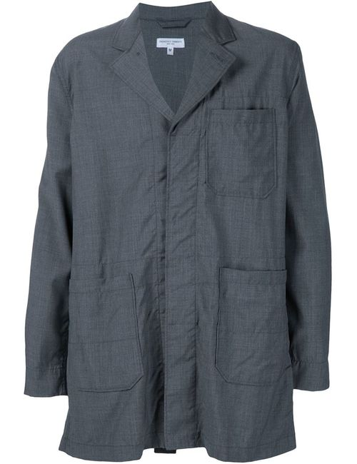 Engineered Garments | Мужская Серая Парка С Потайной Застежкой