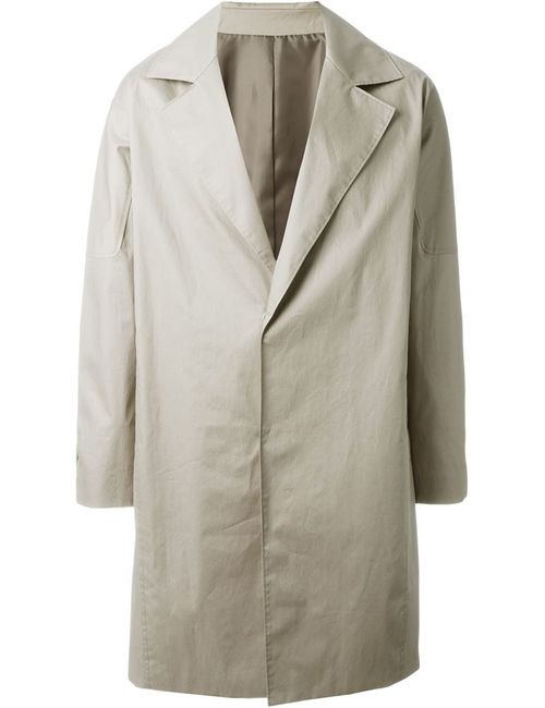 SYSTEM HOMME | Мужское Пальто На Потайной Застежке
