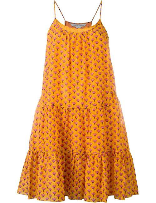 Diane Von Furstenberg | Женское Жёлтое Платье С Принтом Baylee