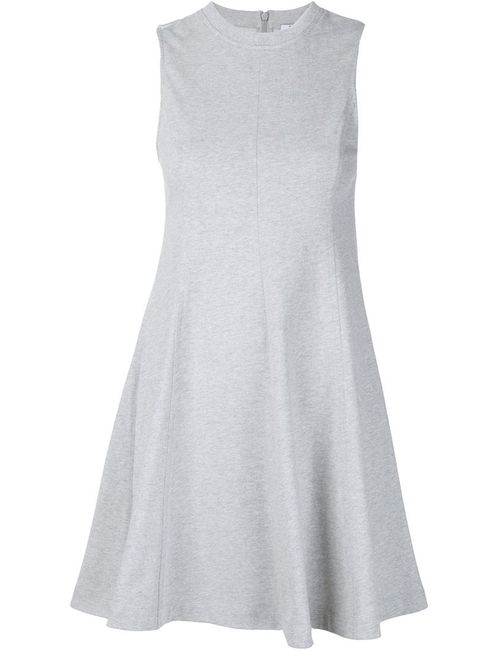 T By Alexander Wang | Женское Серое Короткое Расклешенное Платье