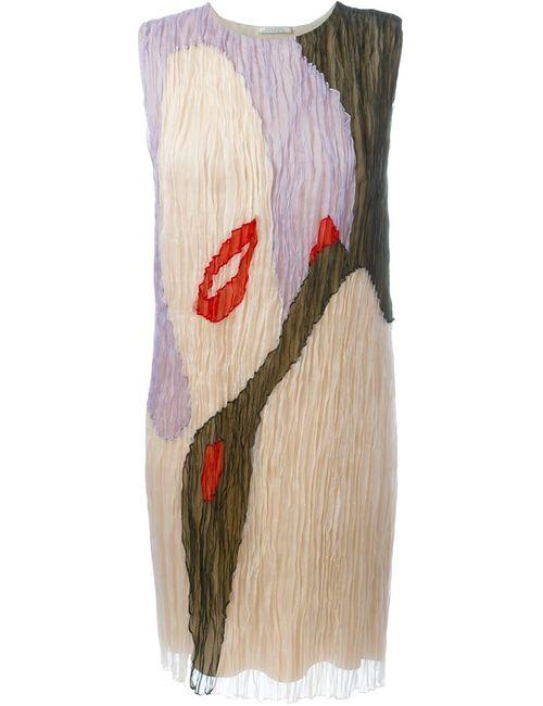 Nina Ricci | Женское Многоцветное Плиссированное Платье Из Органзы