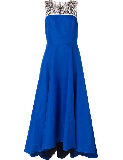 Marchesa Notte | Женское Синий Embroidered Long Dress