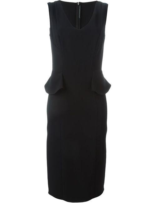 Ermanno Scervino | Женское Черный Приталенное Платье С V-Образным Вырезом