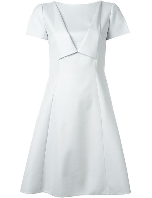 Giorgio Armani | Женское Серое Расклешенное Короткое Платье