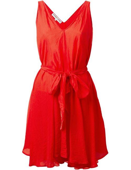 YMC | Женское Красное Платье Бе Рукавов