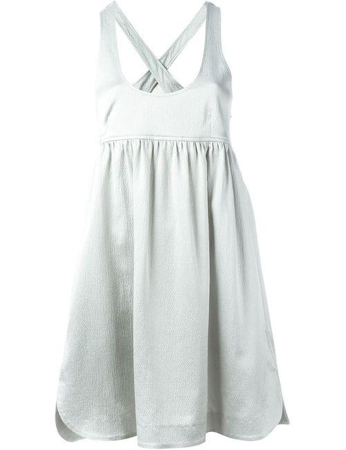 Pascal Millet | Женское Серое Платье Со Скрещенными Лямками На Спине