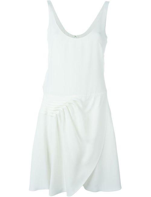 Emporio Armani | Женское Белое Платье С Глубоким Вырезом