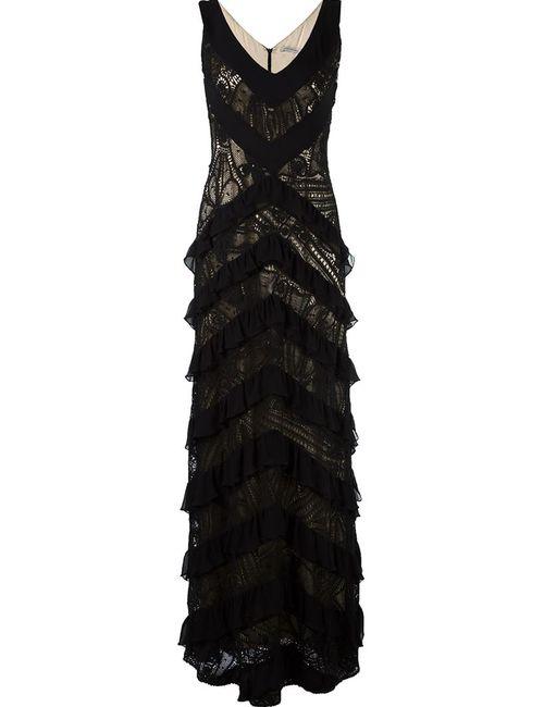 MARTHA MEDEIROS | Женское Чёрный Lace Applique Maxi Dress