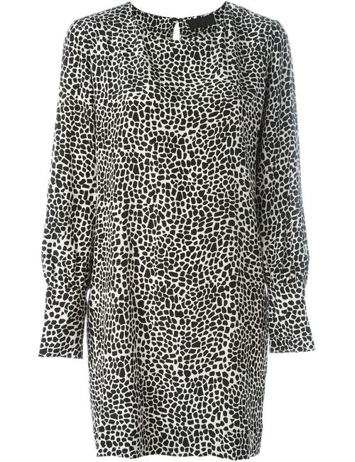 Nili Lotan | Женское Черный Платье С Леопардовым Принтом