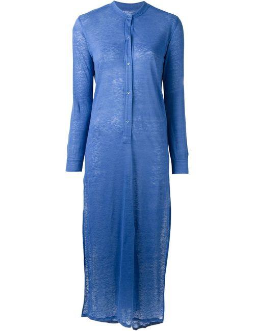 MAJESTIC FILATURES | Женское Синее Длинное Трикотажное Платье