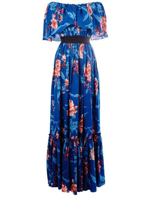 Faith Connexion | Женское Синее Платье С Цветочным Принтом