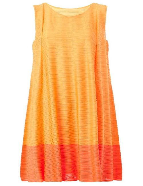 PLEATS PLEASE BY ISSEY MIYAKE | Женское Красный Two-Tone Pleated Dress
