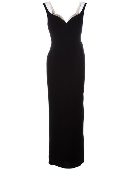 Marc Jacobs | Женское Черный Длинное Платье С V-Образным Вырезом
