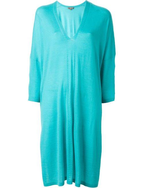 N.PEAL   Женское Зелёное Платье-Кафтан С V-Образным Вырезом