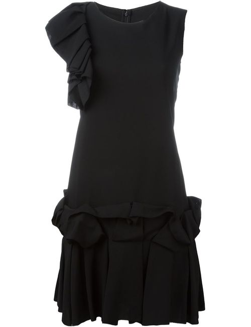 Gianluca Capannolo | Женское Черный Ruffle Detail Mini Dress