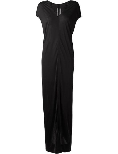 Rick Owens | Женское Чёрное Длинное Драпированное Платье
