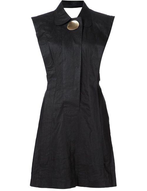 Opening Ceremony | Женское Чёрное Приталенное Платье С Брошью