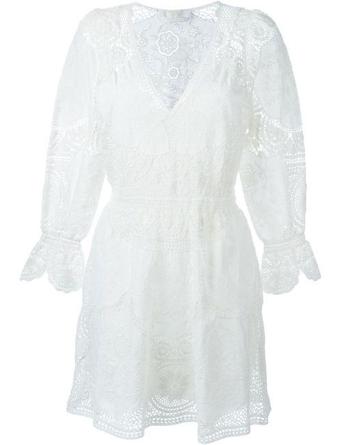 Chloe | Женское Белое Ажурное Платье С Вышивкой